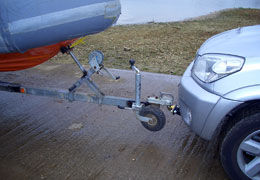 Front Towbar pulling boat